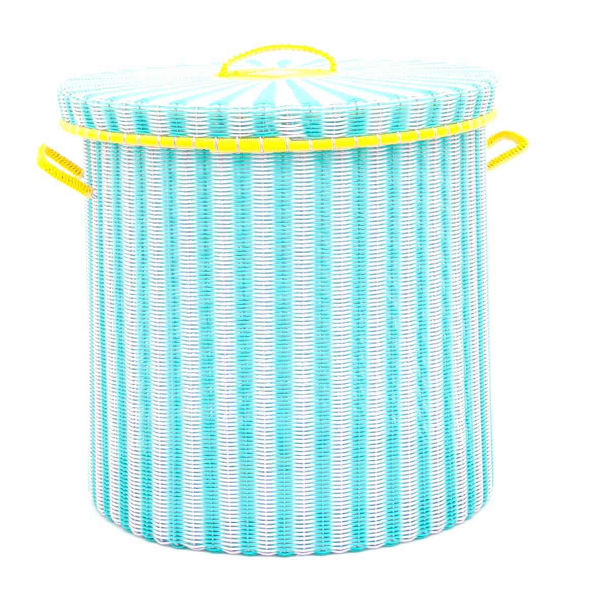 pistachio pink storage basket