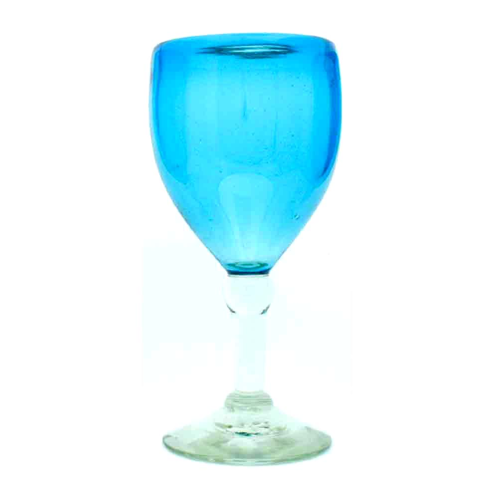 turquoise wineglass