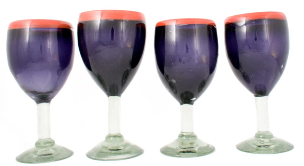 red and purple wineglass
