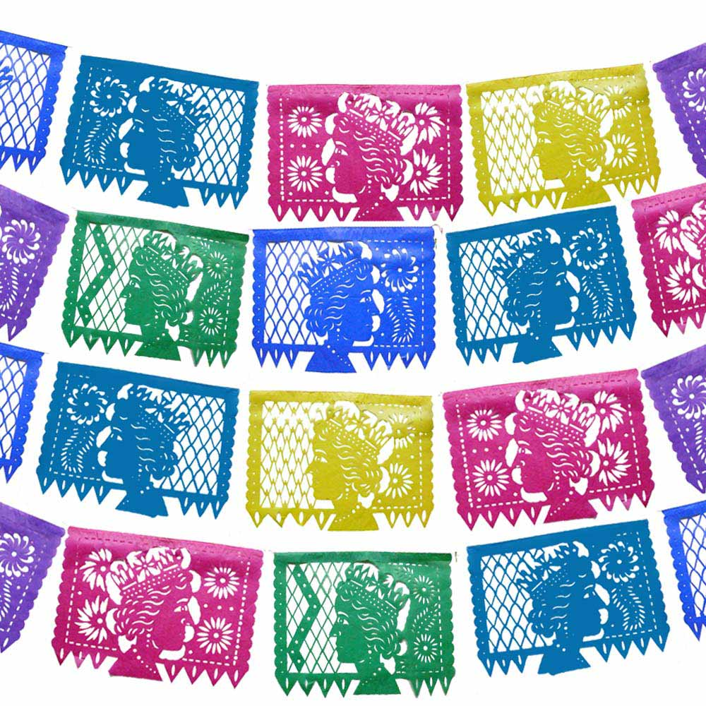 queen celebration papel picado