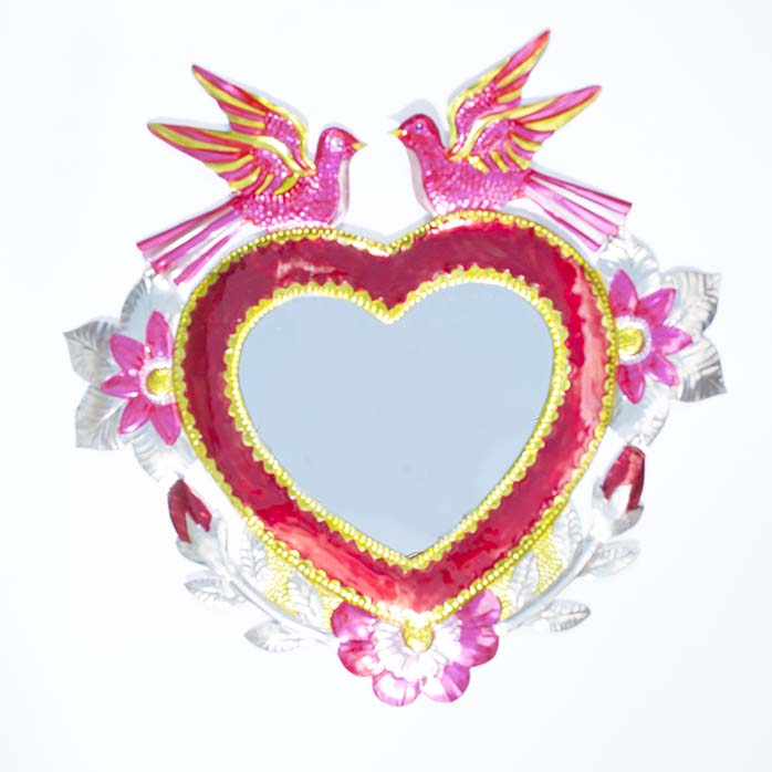 Pink dove mirror
