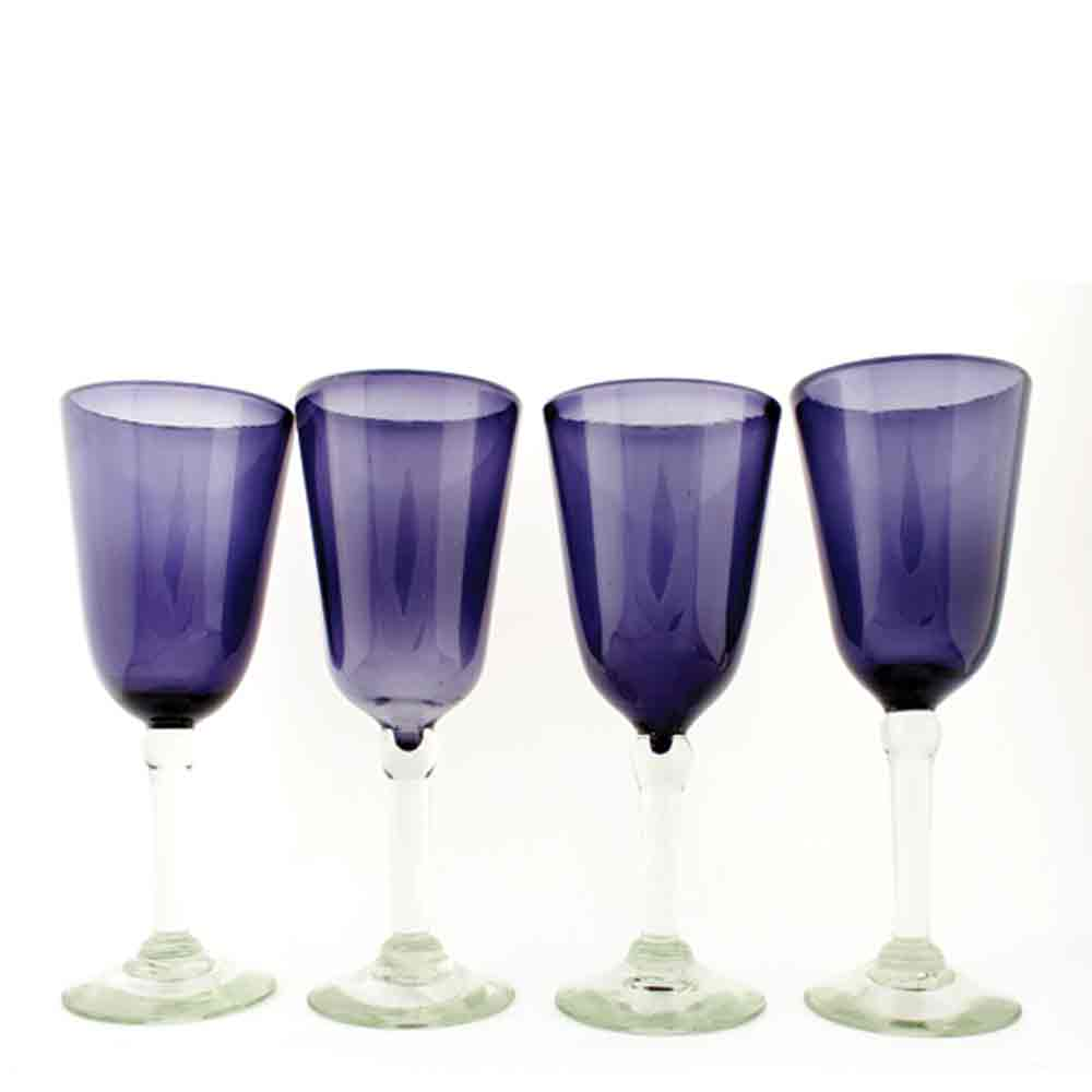 grape bell shaped wine glasses
