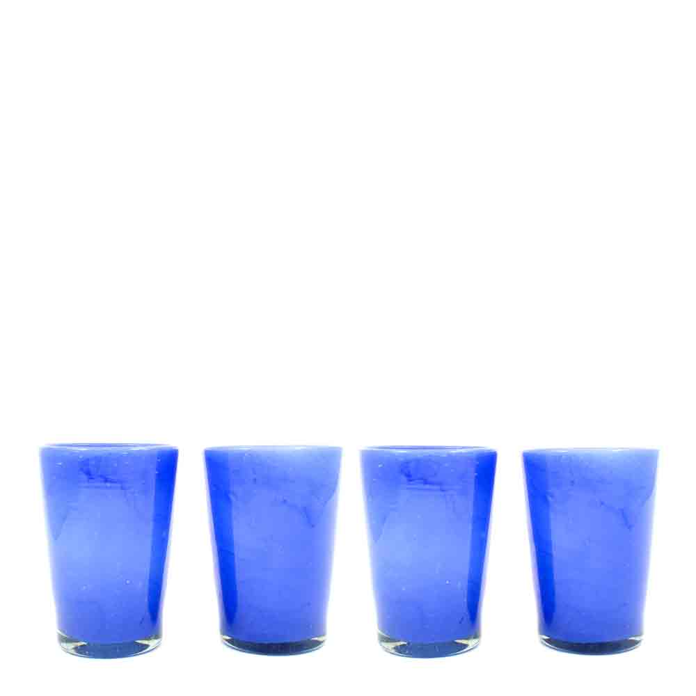milky blue hand made tumblers.