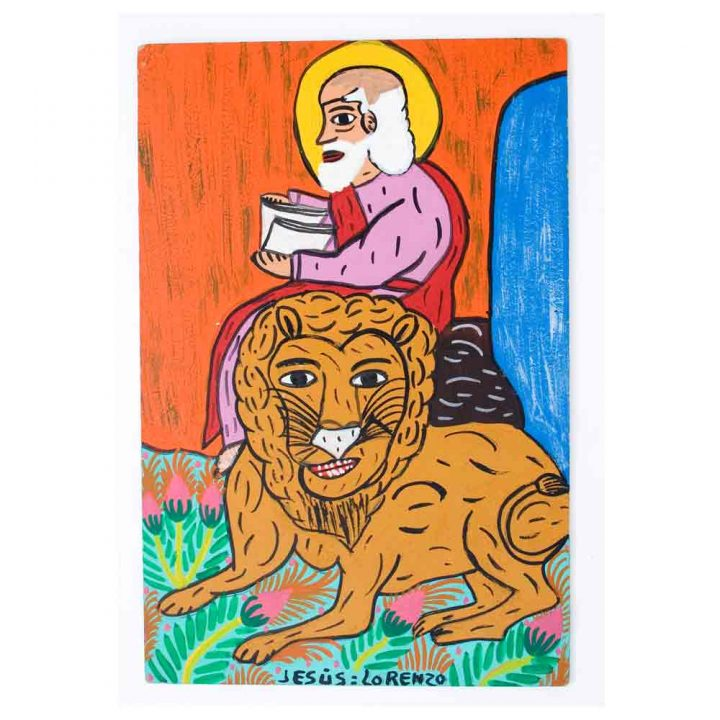 saint paintings from Mexico.