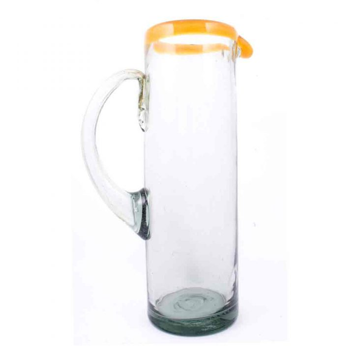 clear with a yellow jug