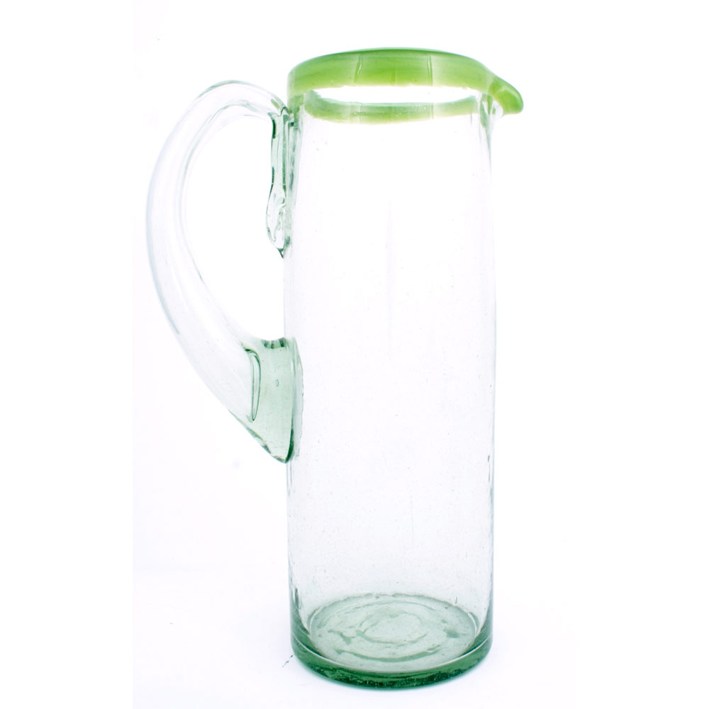 straight milky green jug