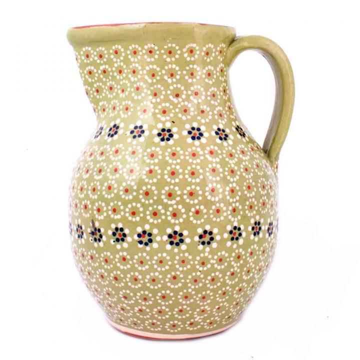 green ceramic jug