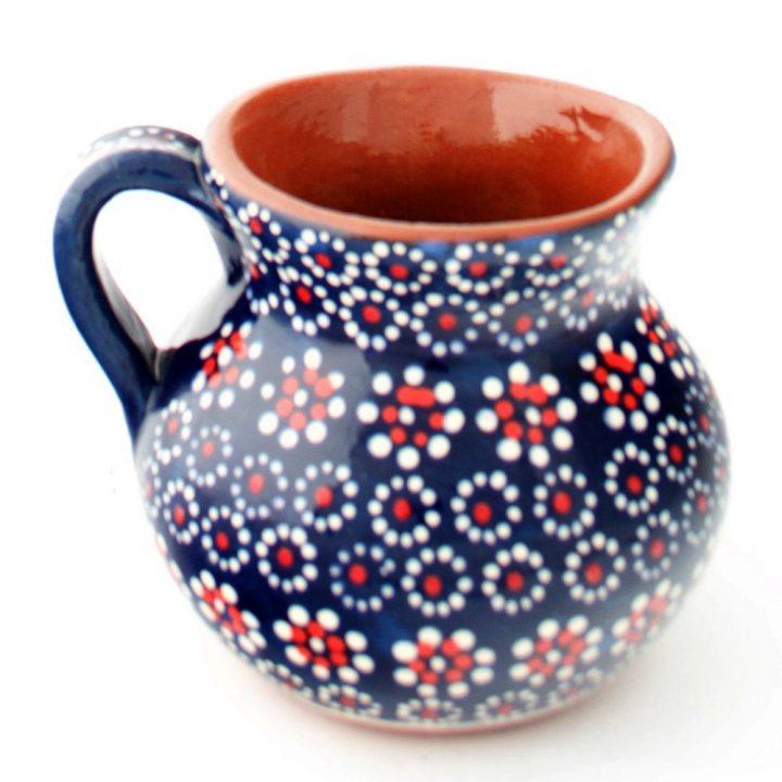 blue hand made mug from Mexico.