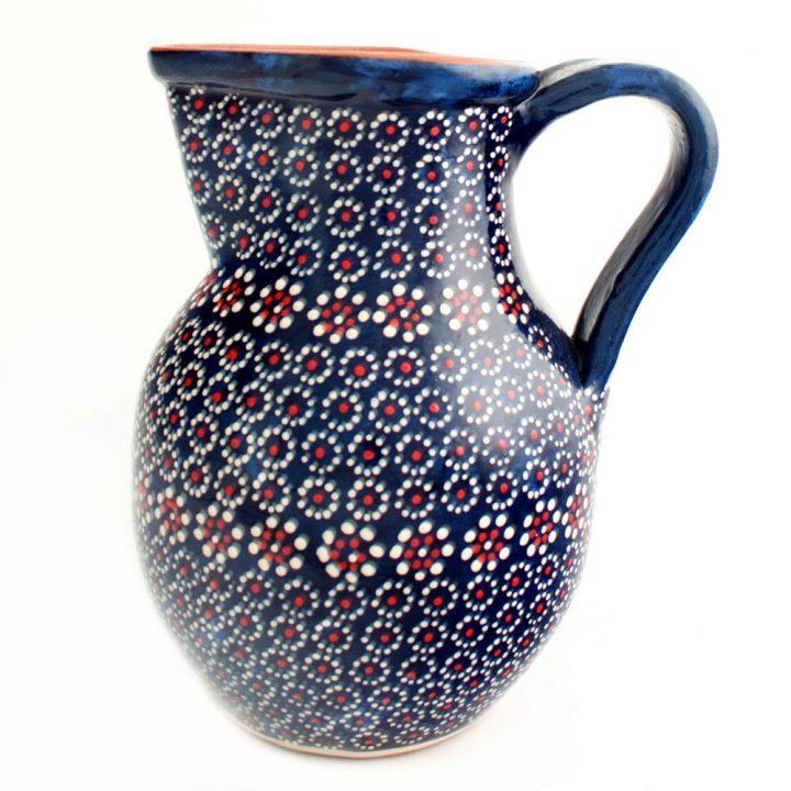 Blue spotted capula jug