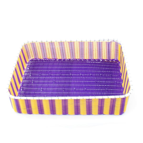 purple and yellow storage tray