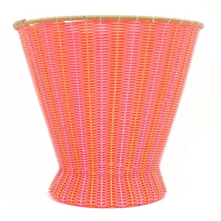 orange pink mexican paper basket