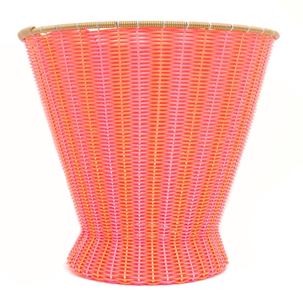 orange pink mexican paper basket
