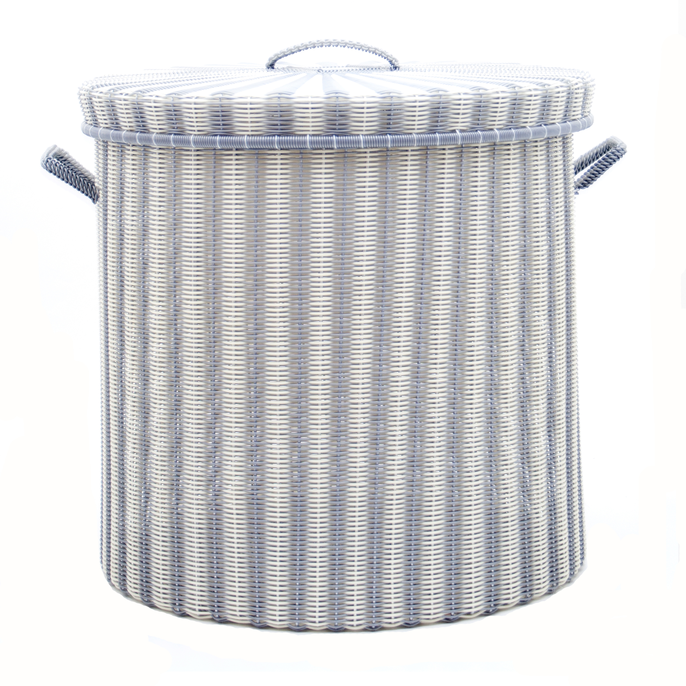 cream silver storage basket