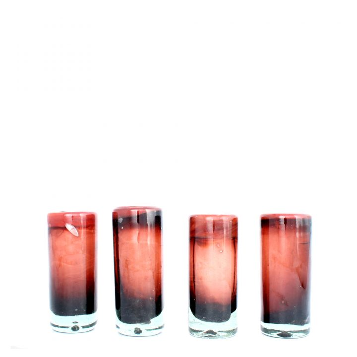 red and purple tequila glass