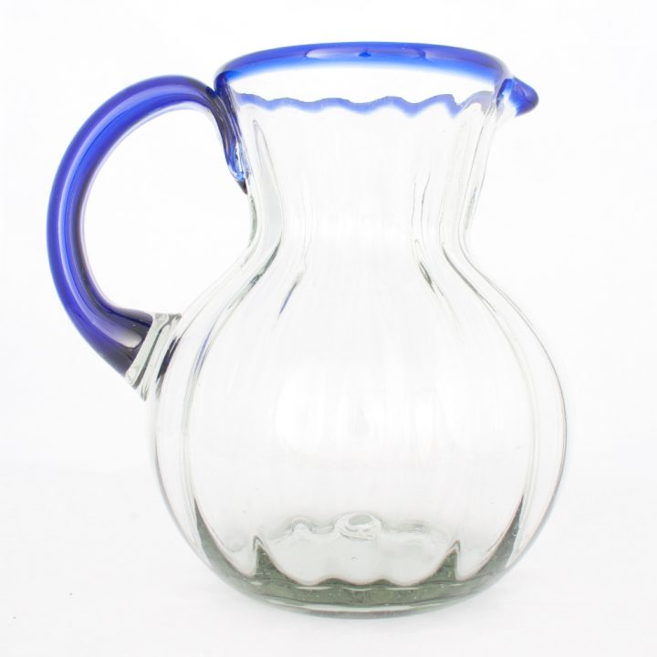 pear shaped blue rim jug
