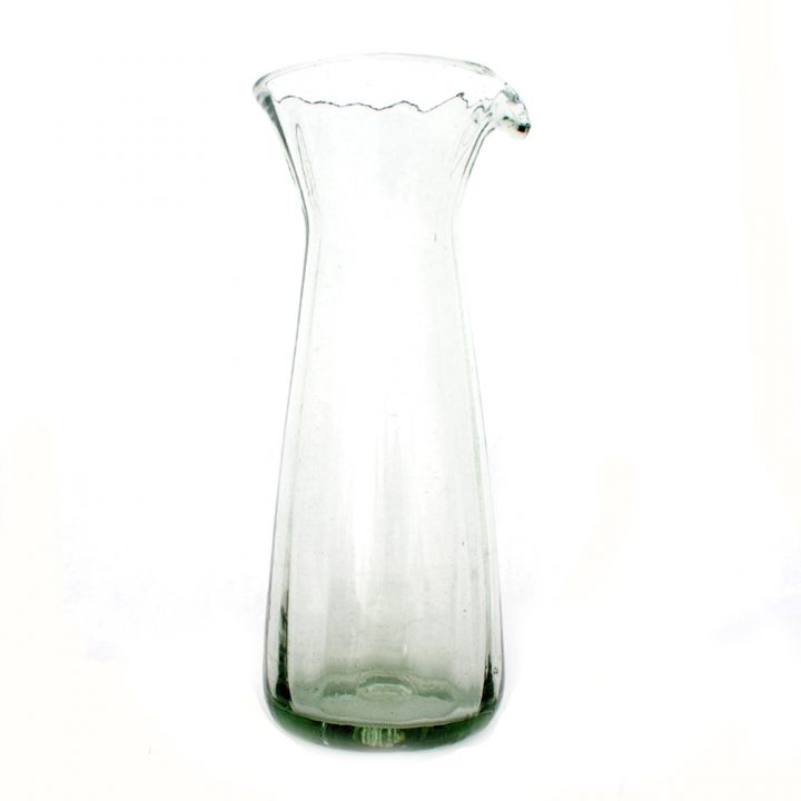 recycled hand made ribbed carafe
