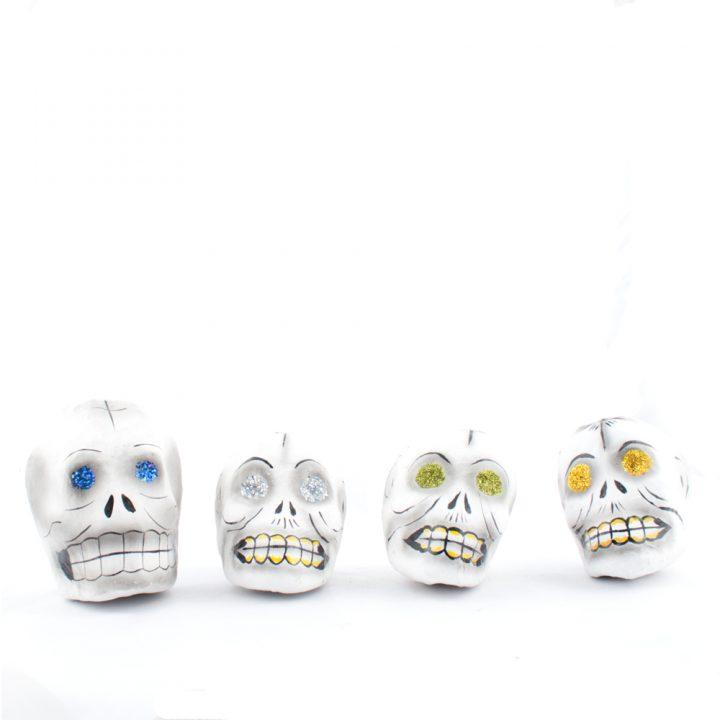 paper maiche skulls