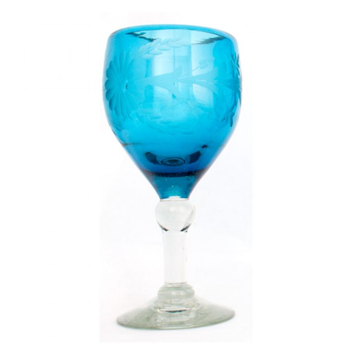 turquoise wine glass