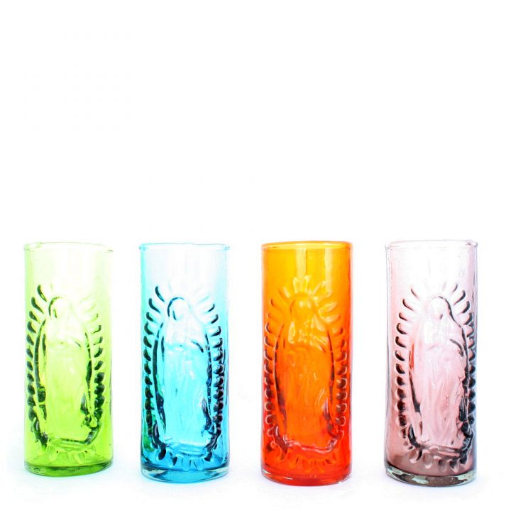 embossed glass guadaloupe