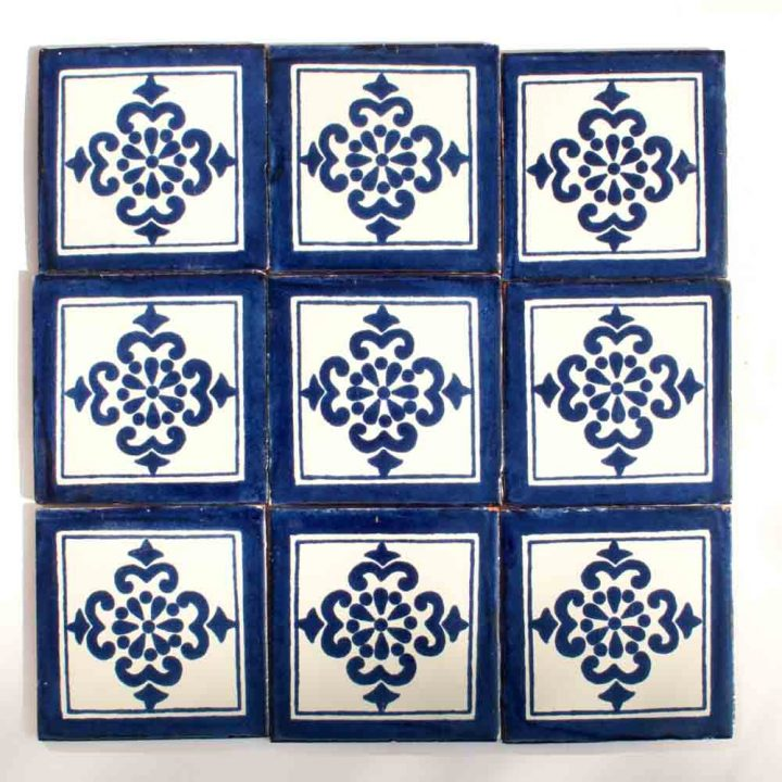 Anita blue hand made wall tiles