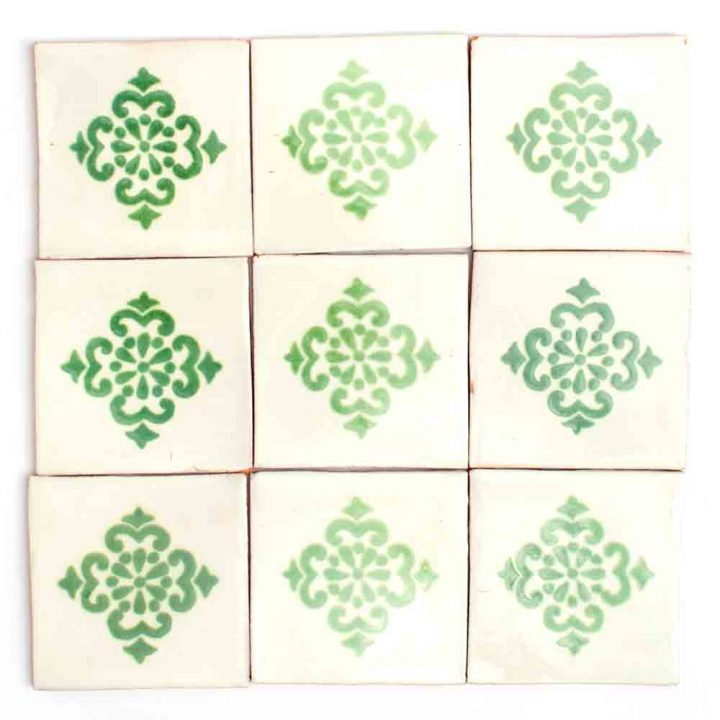 Anita green hand made wall tiles.