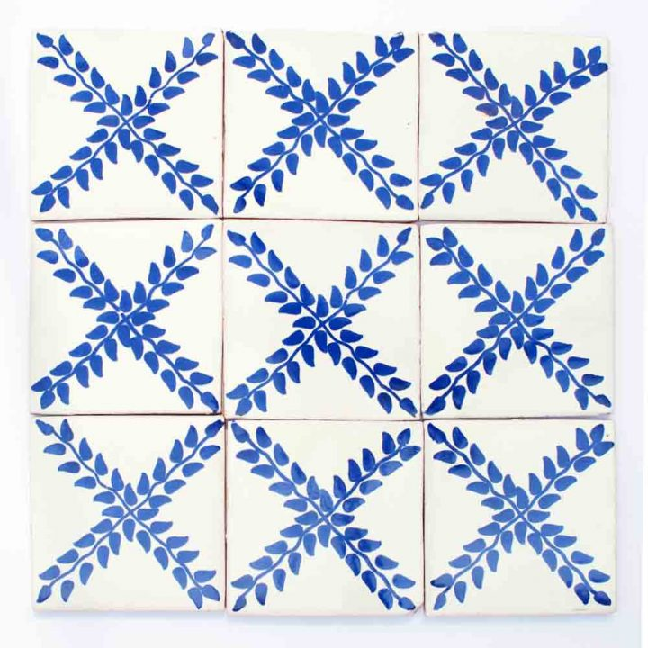 Arbour blue hand made wall tiles