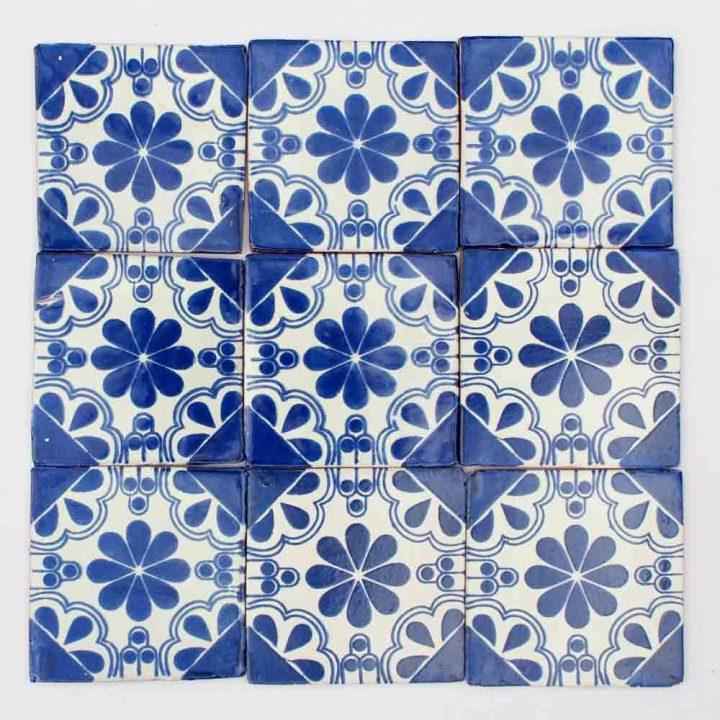 Isabel blue hand made tiles
