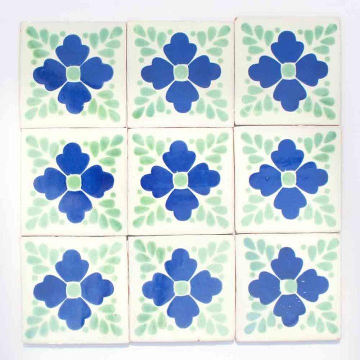 Lester blue hand made tiles