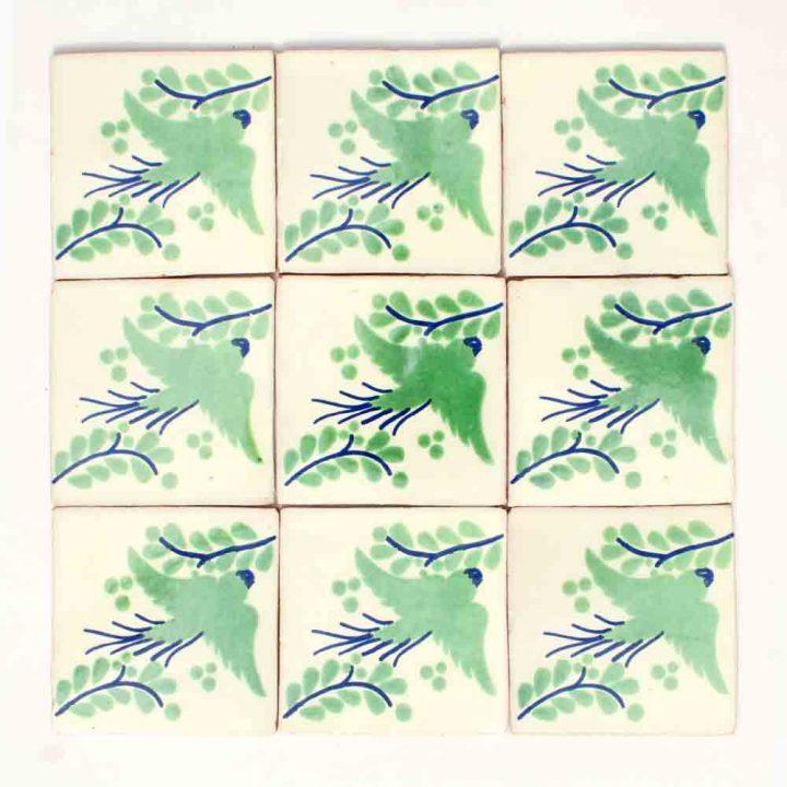 Paloma green hand made tiles
