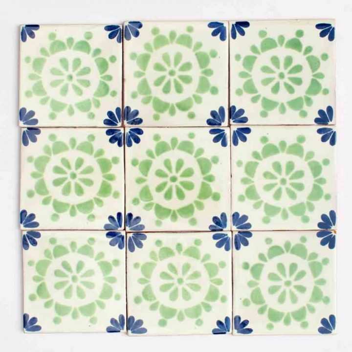 Rocio blue and green hand made tiles