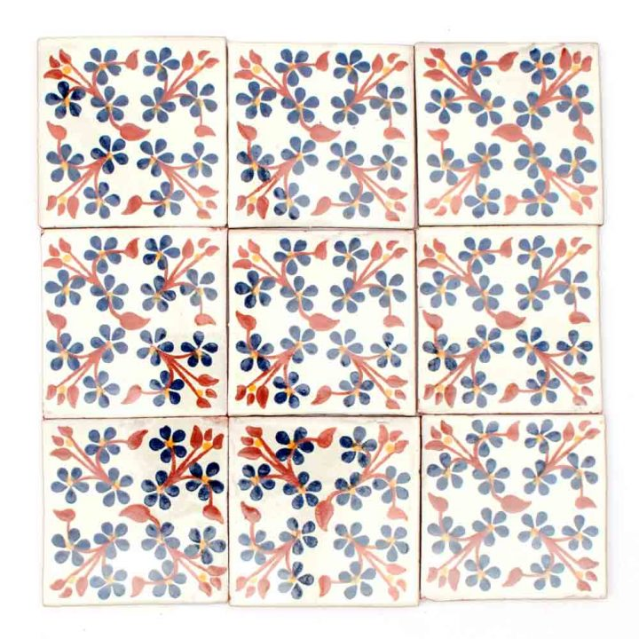 Violets hand made wall tiles