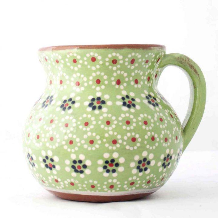 capula mug hand made Mexican pottery