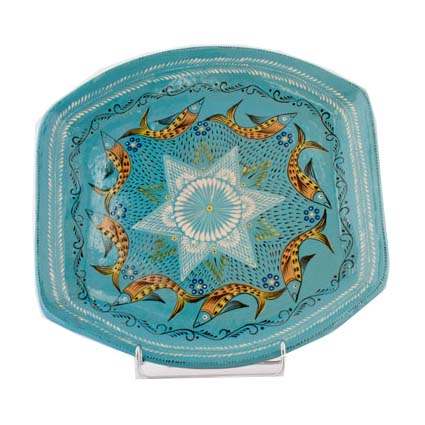 Mexican fish pottery plate