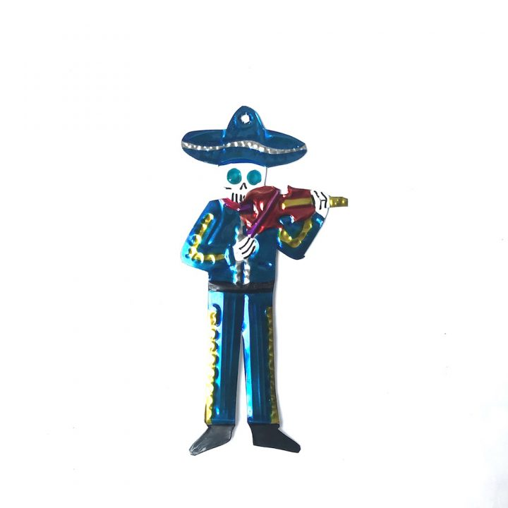 Tin skeleton Mariachi