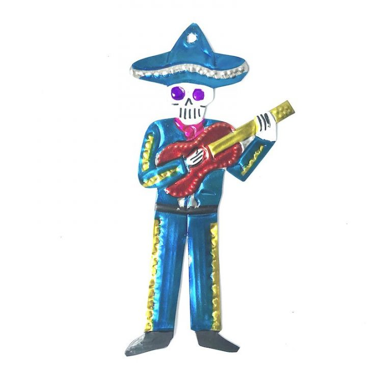 Tin mariachi with guitar