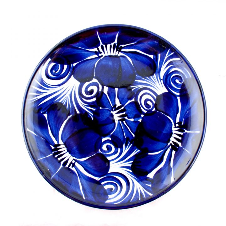 Mexican blue flower plate