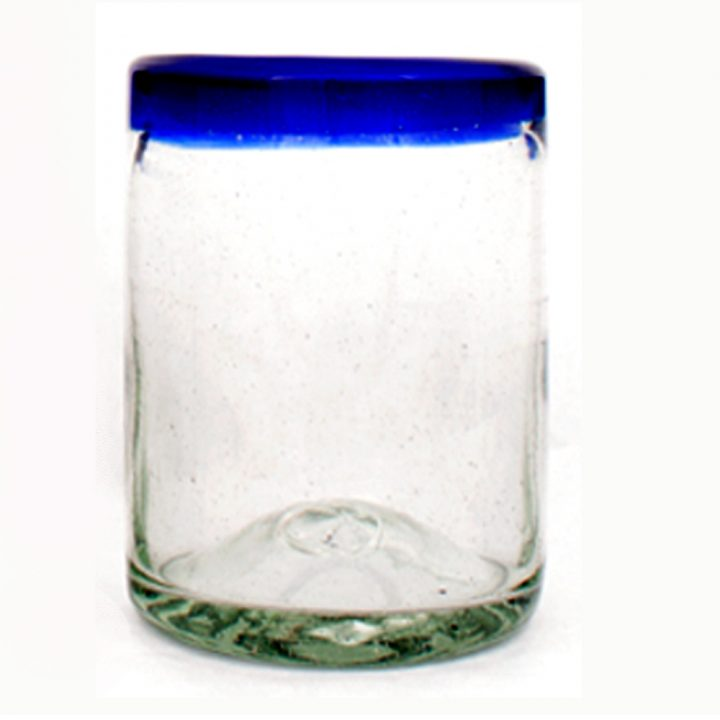 roca tumbler with clear blue rim