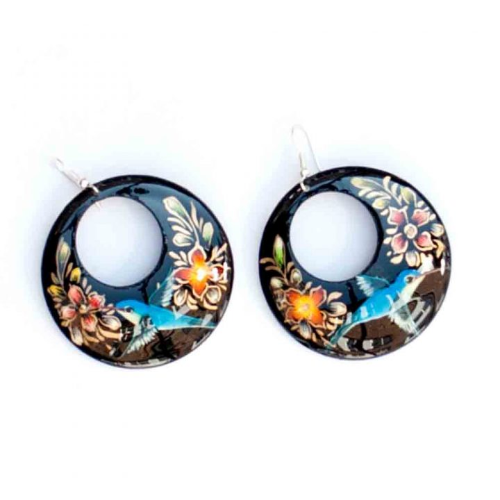 enamel earring hand made in Mexico
