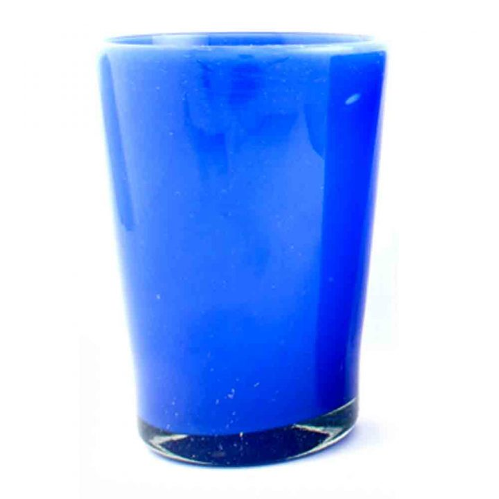 Milky blue hand made tumbler