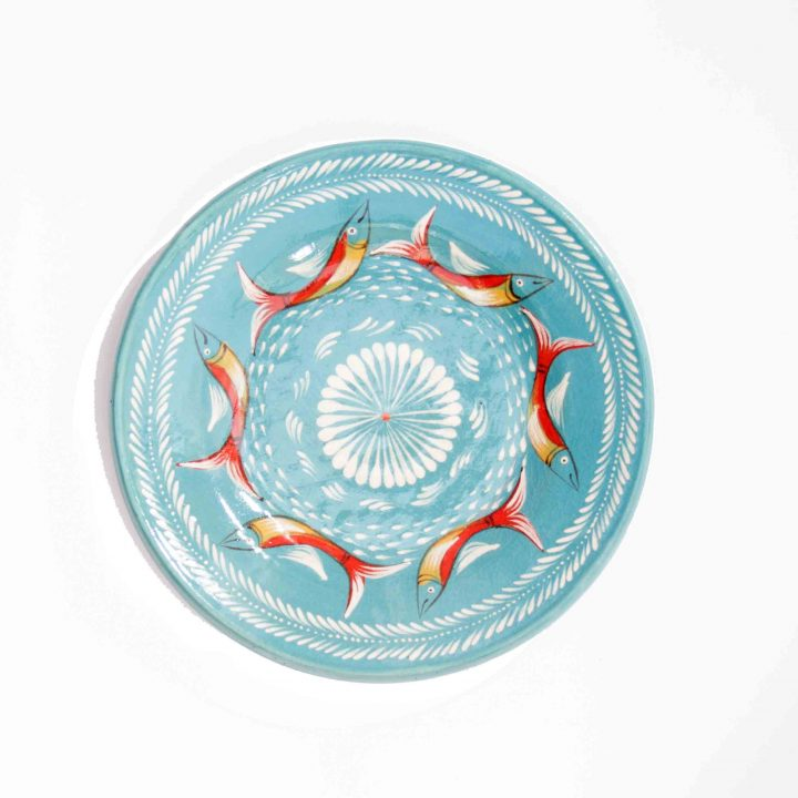 Mexican pottery fish plate