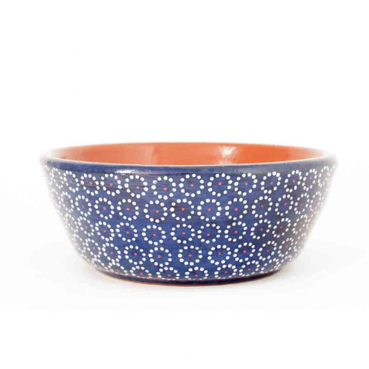 blue capula bowl Mexican table ware