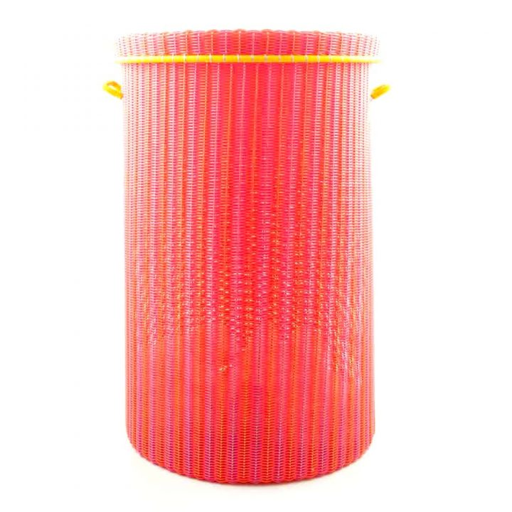 pink and orange large laundry basket