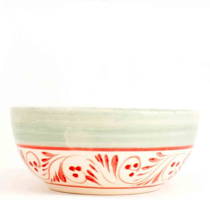 San Gabriel pottery bowl hand made in Mexico