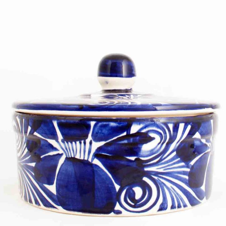 dolores blue flower bowl from Mexico