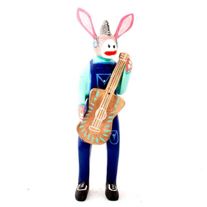 Donkey with guitar