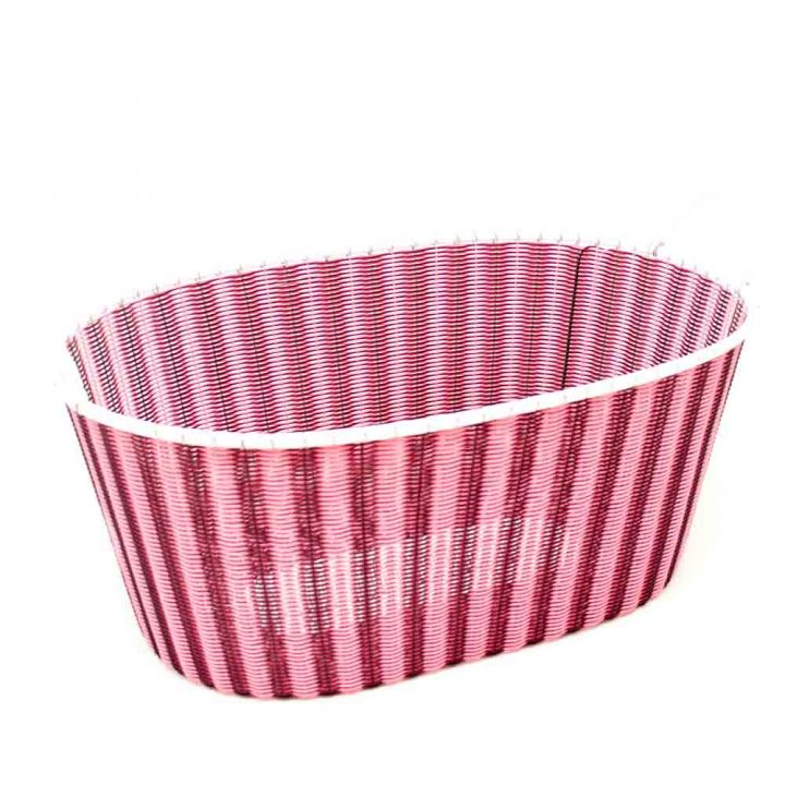 Pink and aubergine ironing basket