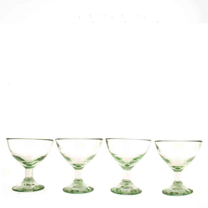Clear bell wine glass