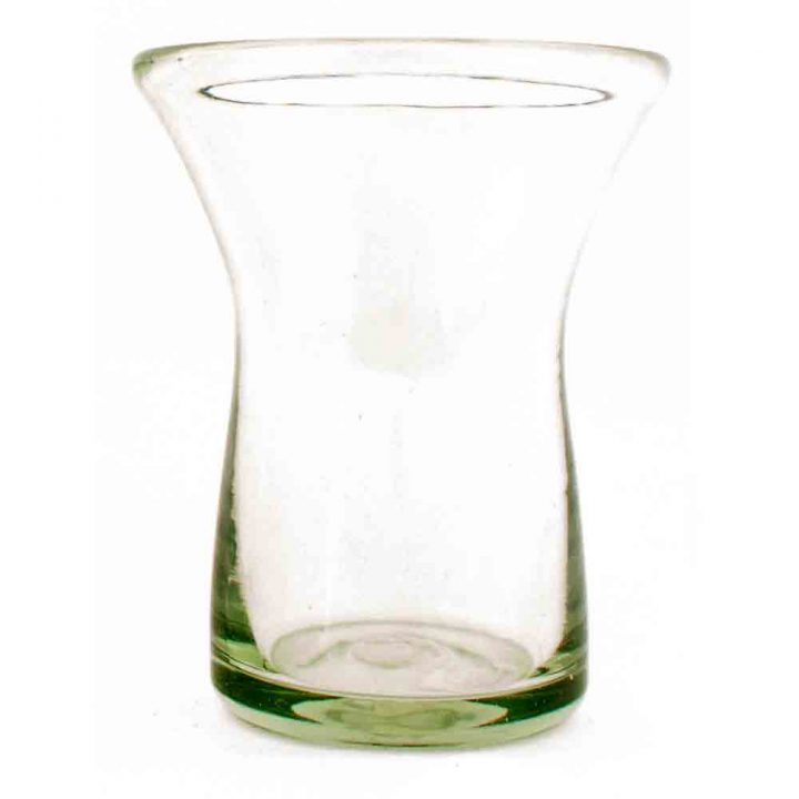 clear waisted recycled glass tumbler