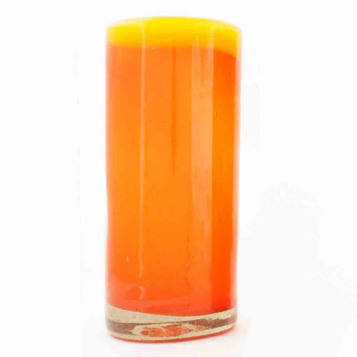 orange and yellow rim highball