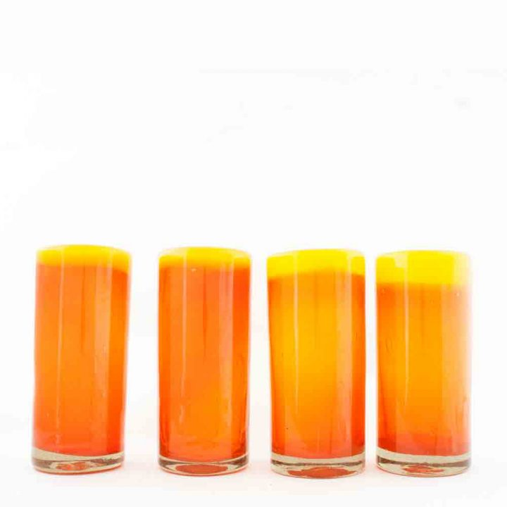 orange and yellow highballs